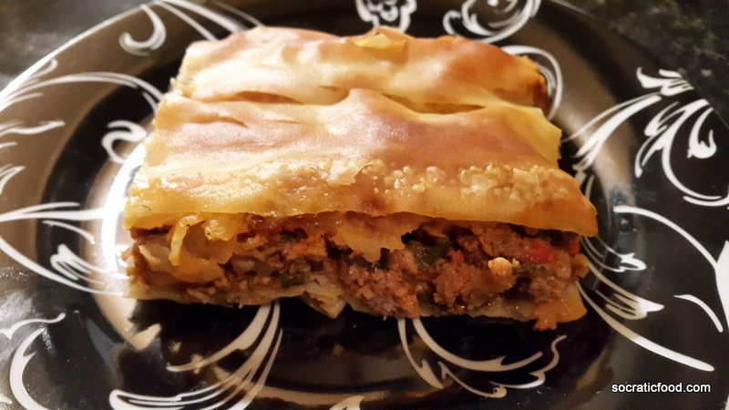 Ground meat pie