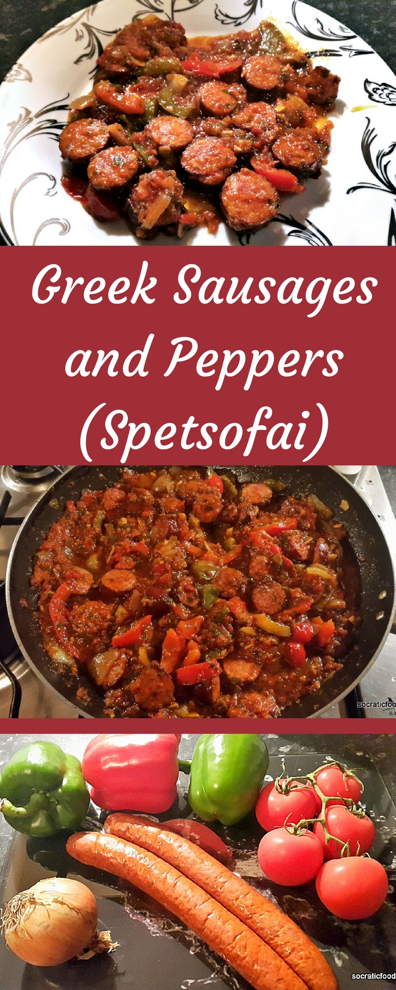 Sausages and Peppers in Tomato Sauce (Greek Spetsofai)
