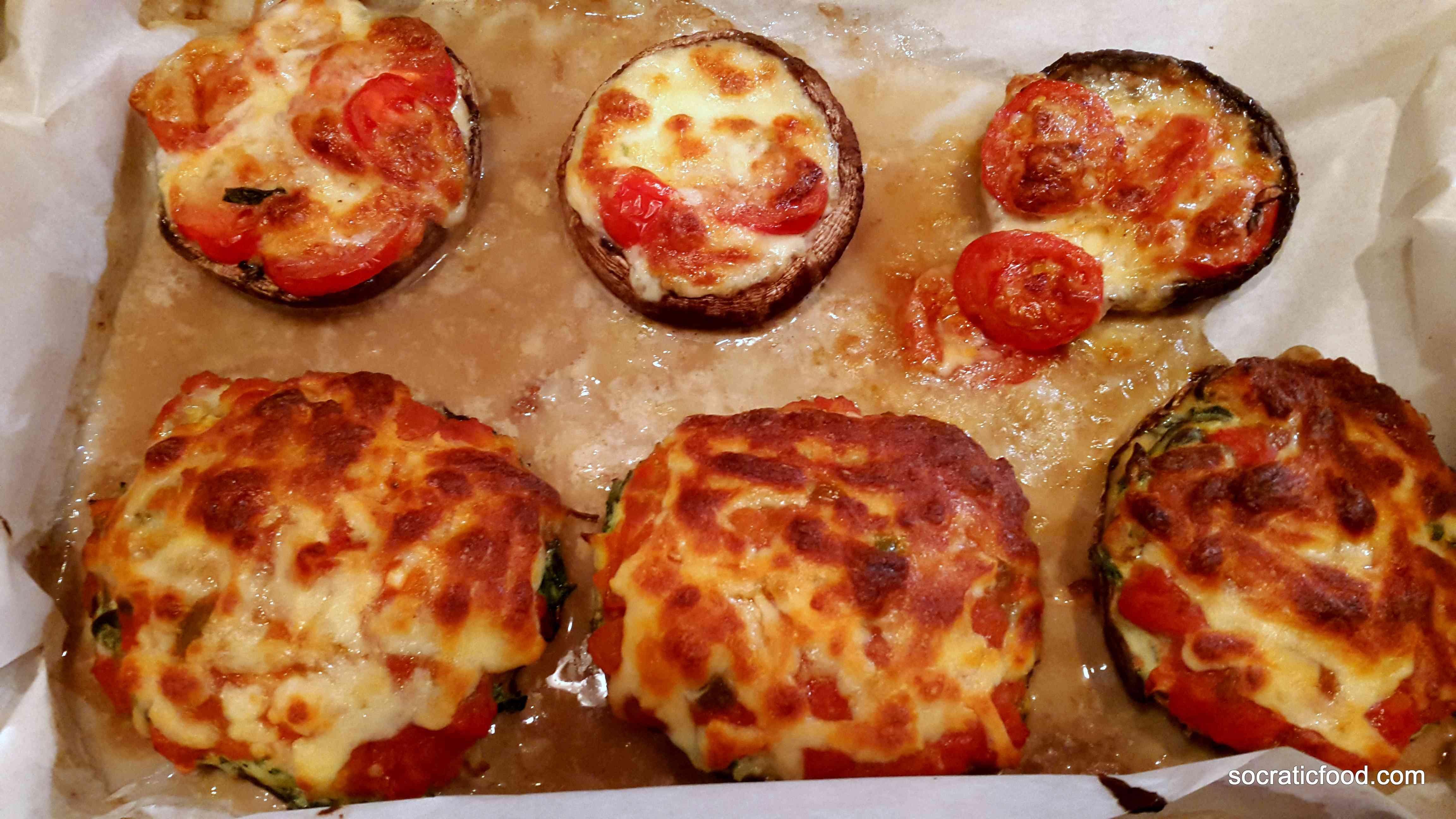 ricotta stuffed portobello mushrooms