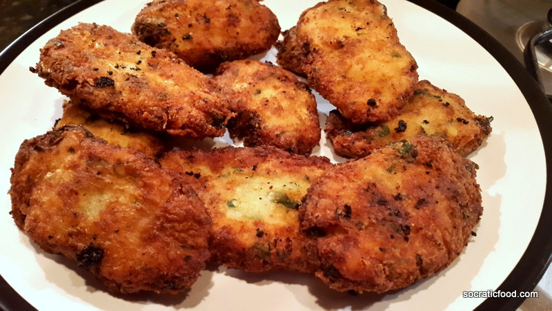 Crispy Potato Cakes with Cheese