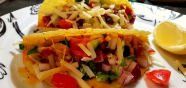 Mexican chicken thighs tacos