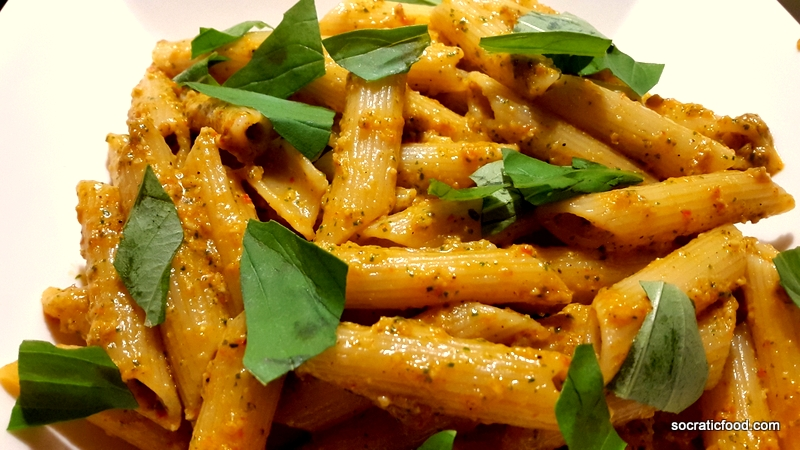Penne with Red Pepper Pesto - SocraticFood