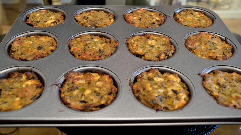 Cheesy Eggplant Cupcakes