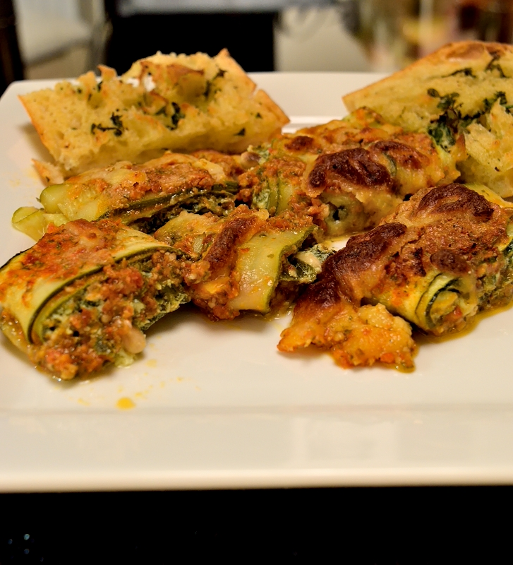 recipe for zucchini (courgette) rolls stuffed with spinach and ricotta ...
