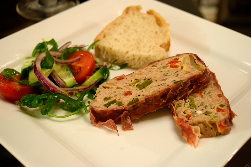 Juicy Turkey Meatloaf Wrapped in Prosciutto di Parma