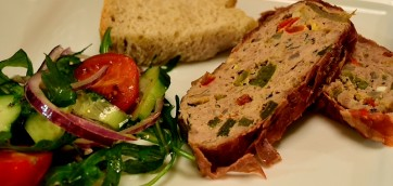 Turkey Meatloaf Wrapped in Prosciutto di Parma