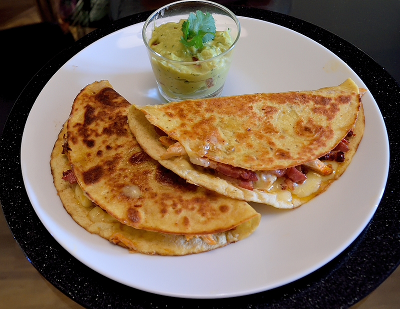 Gorgeous Quesadillas with Chicken and Bacon