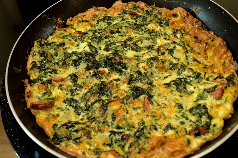 spinach and mushroom frittata herbed spinach frittata with feta light ...