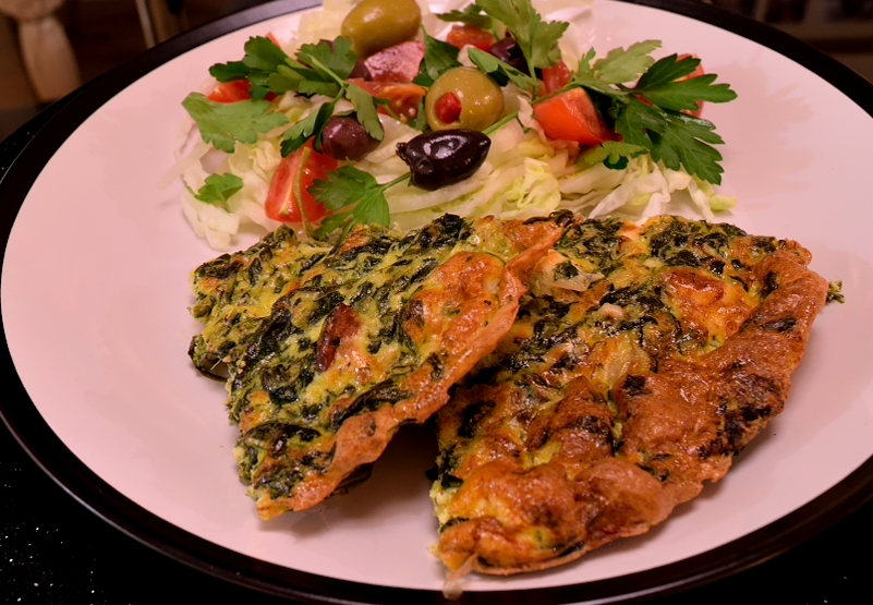 Spinach and Leek Frittata with Feta - SocraticFood