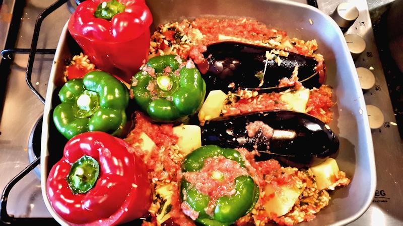 Greek-Style Stuffed Peppers and Eggplants (Gemista ...