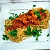 Maine Lobster Tail Spaghetti in Fresh Tomato Sauce