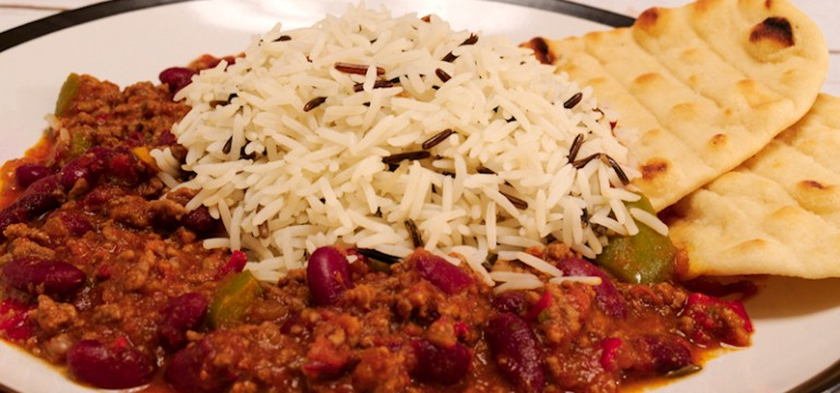 Chili Con Carne with Wild Rice