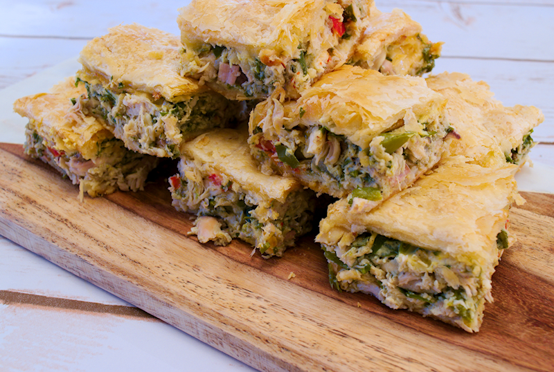 Chicken Pie with Peppers and Herbs (Kotopita)