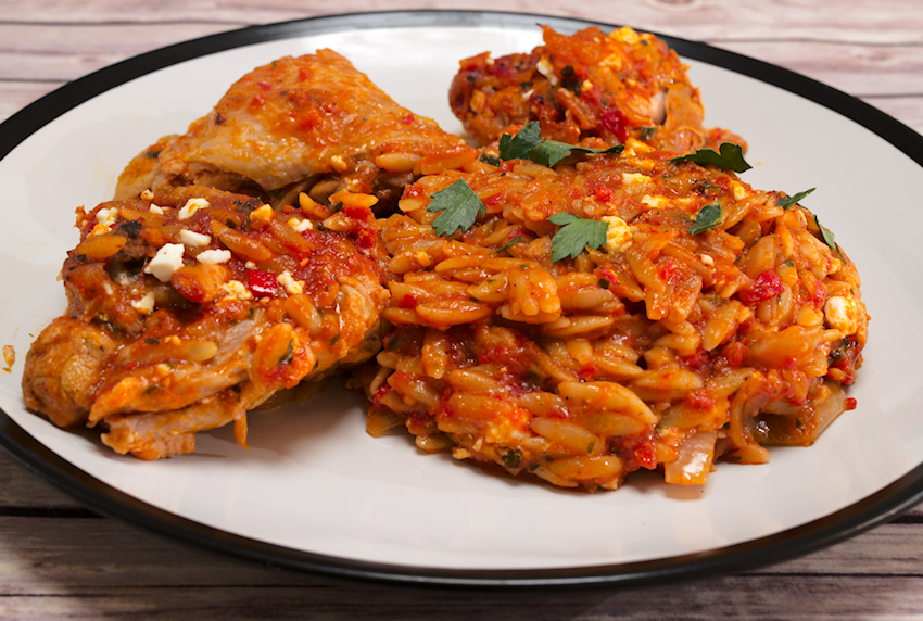 Chicken with Orzo Casserole (Giouvetsi)