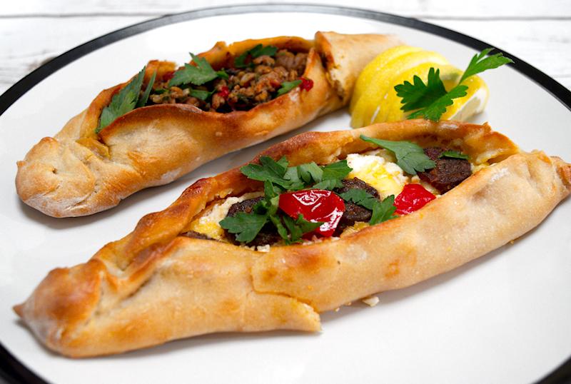 Cheesy and Meaty Turkish Pide (Peinirli)