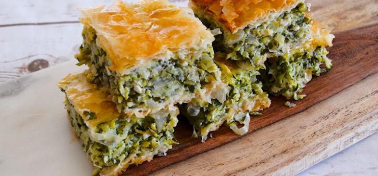 Greek Zucchini and Herbs Pie (Kolokythopita)