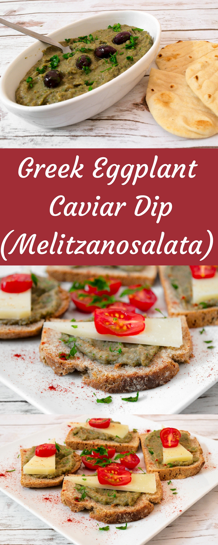 Greek Eggplant Caviar Dip (Melitzanosalata)