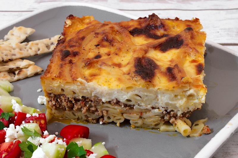 Macaroni and Veal Casserole (Greek Pastitsio)