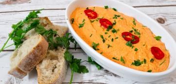 Hot Roasted Peppers and Feta Spread (Tirokafteri)