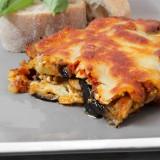 Eggplant Parmigiana with Feta and Mushrooms