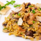 Risotto-style Orzo with Wild Mushrooms (Kritharoto)