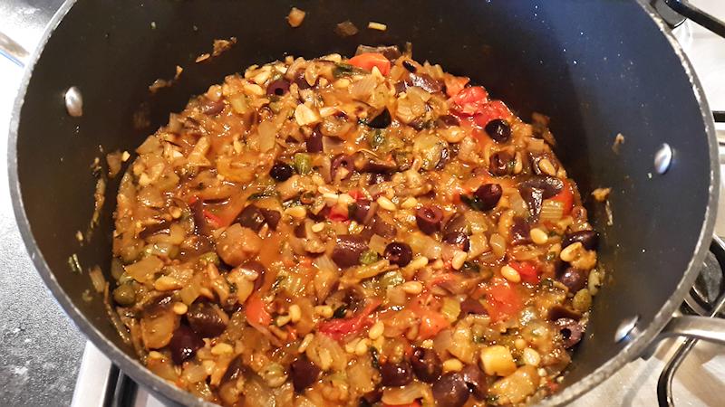 Sicilian Eggplant Stew (Caponata)