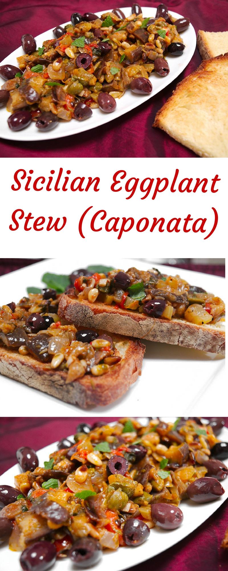 Sicilian Eggplant Stew with Herbs (Caponata)