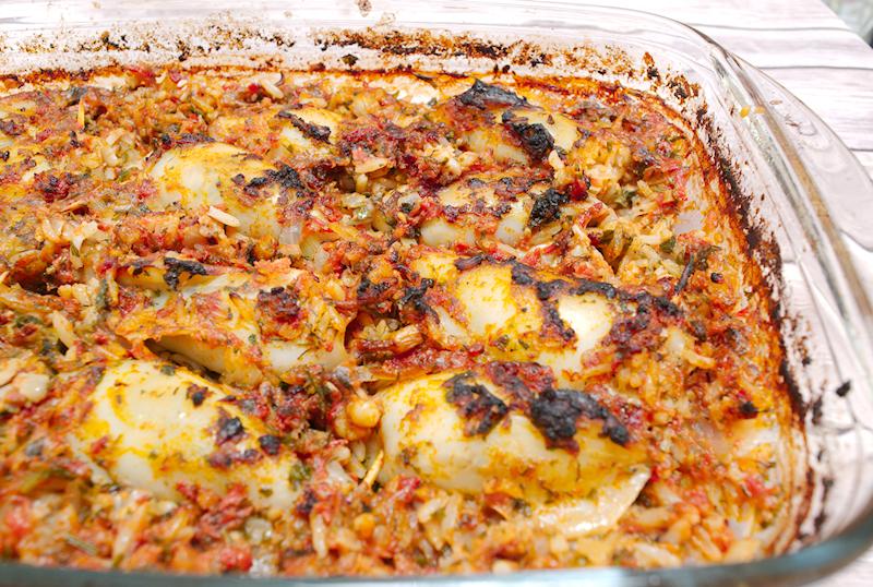 Stuffed Squid with Rice and Herbs (Kalamaria Gemista)