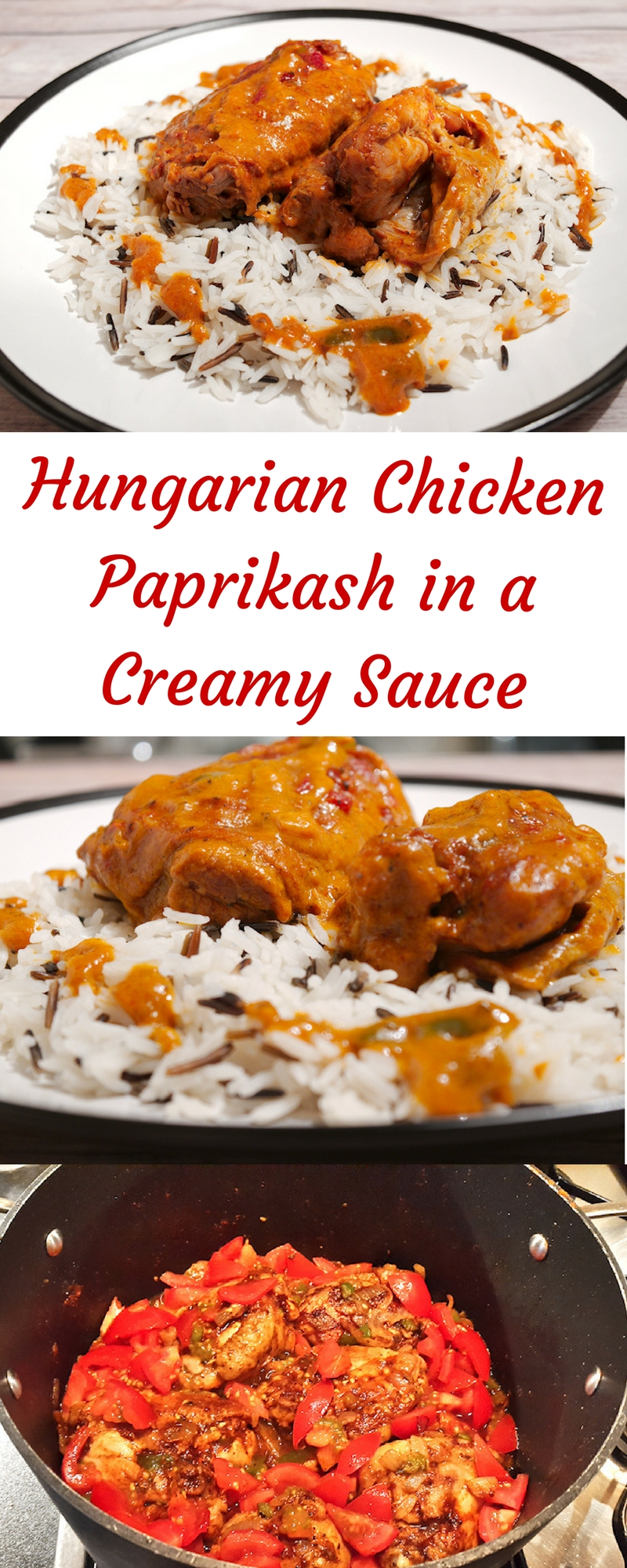 Hungarian Chicken Paprikash in a Creamy Sauce