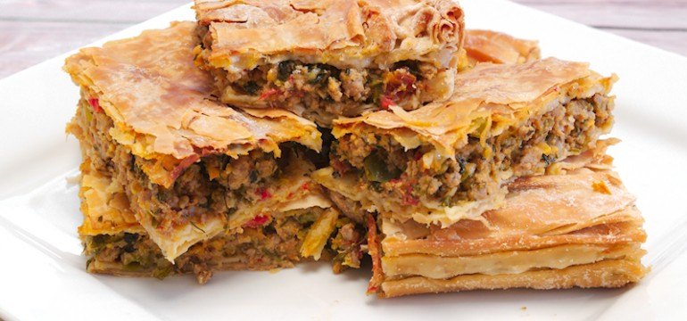 Spicy Turkey Pie with Peppers and Herbs