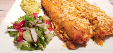 Spicy Chicken and Bean Enchiladas