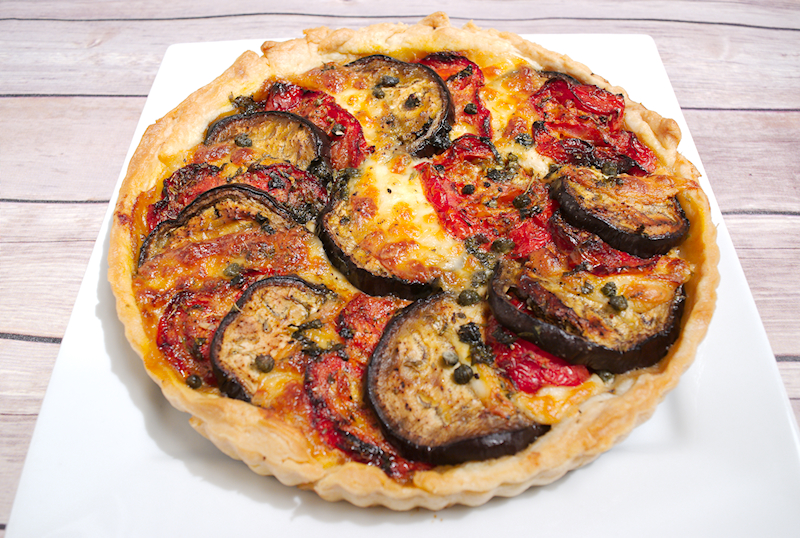 Roasted Eggplant and Tomatoes Tart