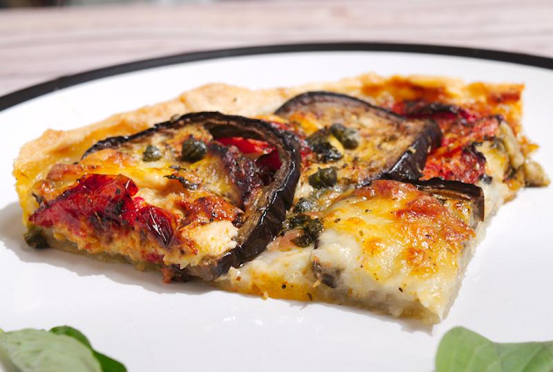 Roasted Eggplant and Tomatoes Tart