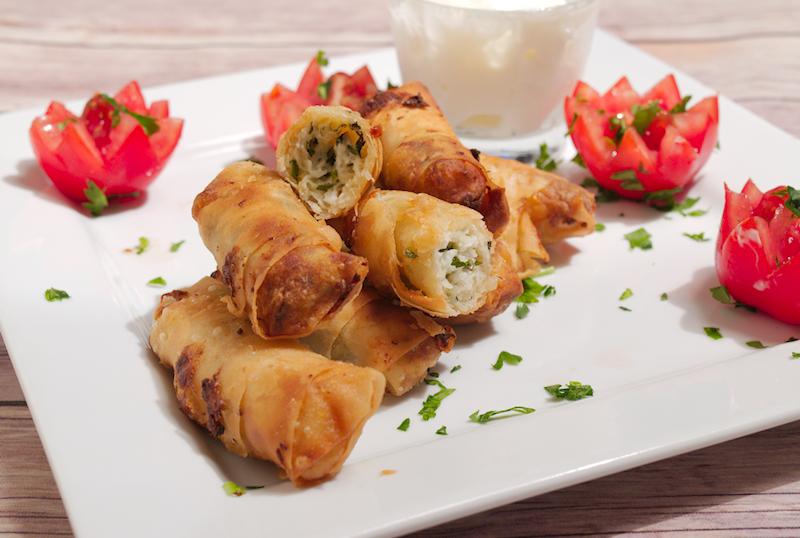Turkish Halloumi and Mint Rolls (Sigara Borek)