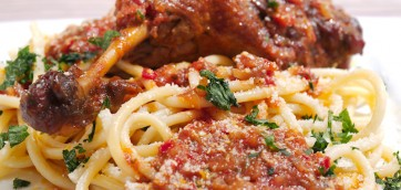 Greek Duck Legs in Spicy Tomato Sauce (Pastitsada)