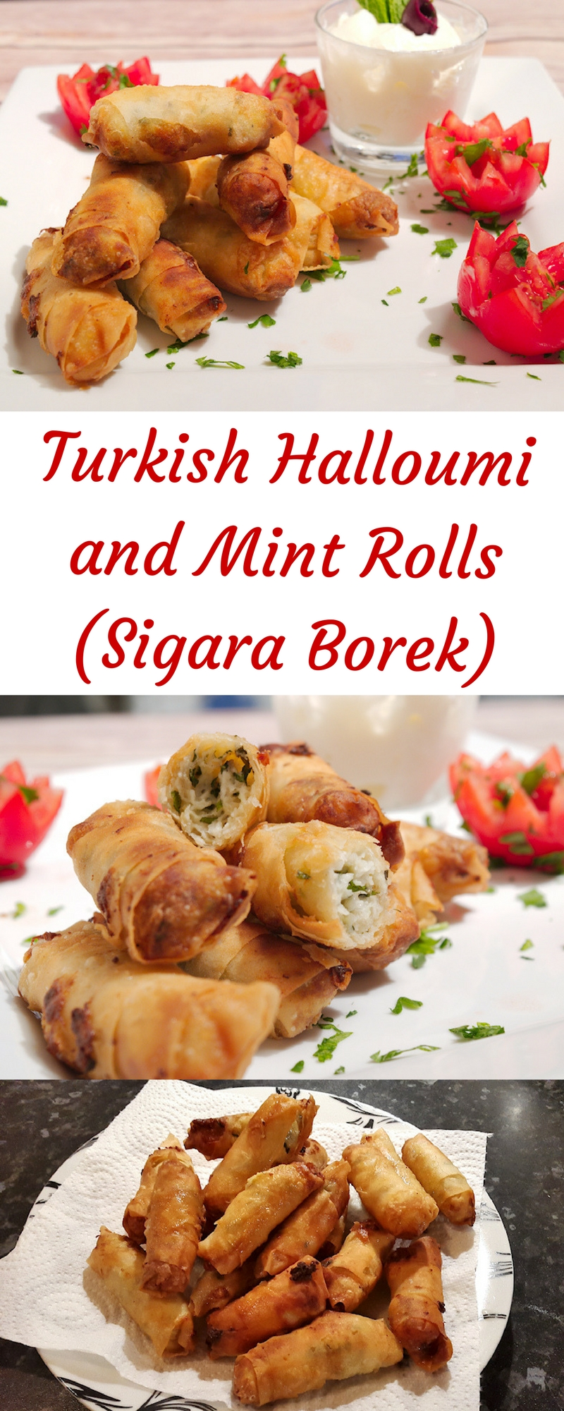 Turkish Halloumi and Mint Rolls (Sigara Borek)